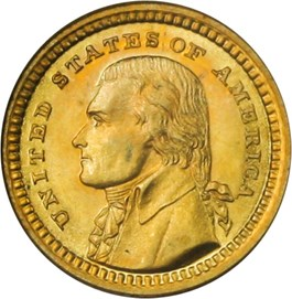 Image of 1903 Jefferson G$1 PCGS/CAC MS64 OGH