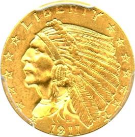 Image of 1911 $2 1/2 PCGS MS63