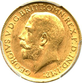 Image of Great Britain: 1911 Gold Sovereign PCGS AU58 (S-3996, KM-820) .2355oz Gold