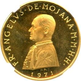 Image of Order of Malta: 1971 Gold 10 Scudi NGC PR64 UCAM (X-45) .2315oz Gold