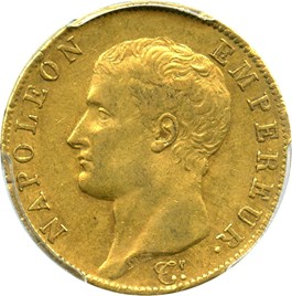 Image of France: AN13-A Gold 40 Franc PCGS AU53 (KM-664.1)