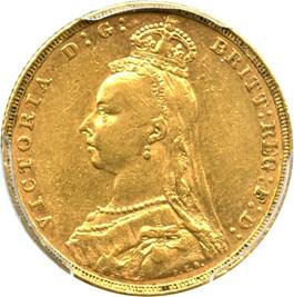 Image of Australia: 1892-M Jubilee Head Gold Sovereign PCGS AU53 (S-3867C, KM-10) .2355oz Gold