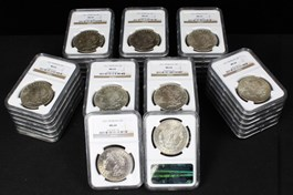 Image of Collector Lot of 1921 Morgan $1: All NGC MS64 (44 Coins)