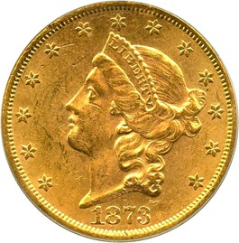 Image of 1873 $20 PCGS/CAC MS61 (Open 3)