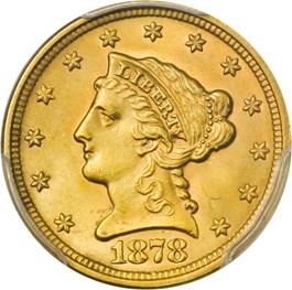 Image of 1878 $2 1/2 PCGS MS63