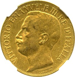 Image of Italy: 1911-R Gold 50 Lire NGC AU50 (50th Anniversary, KM-54) .4667oz Gold