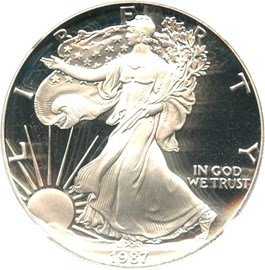 Image of 1987-S Silver Eagle $1 NGC Proof 69 UCAM