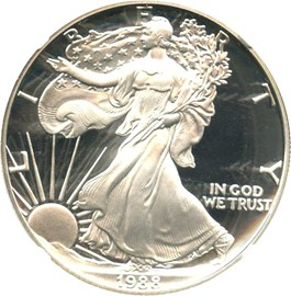 Image of 1988-S Silver Eagle $1 NGC Proof 69 UCAM