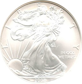 Image of 2008-W Silver Eagle $1 NGC MS69