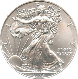 Image of 2008-W Silver Eagle $1 NGC MS69 (Early Releases)