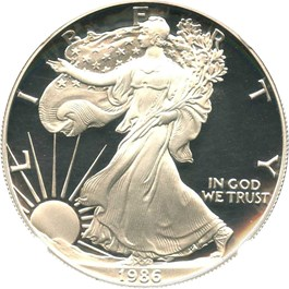 Image of 1986-S Silver Eagle $1 NGC Proof 69 UCAM