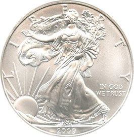 Image of 2009 Silver Eagle $1 NGC MS69 (Early Releases)