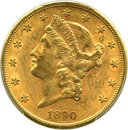 Image of 1890-S $20 PCGS/CAC MS61