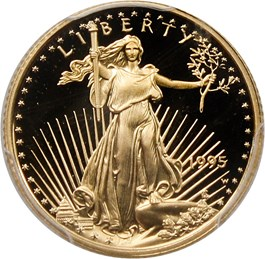 Image of 1995-W Gold Eagle $5 PCGS Proof 69 DCAM