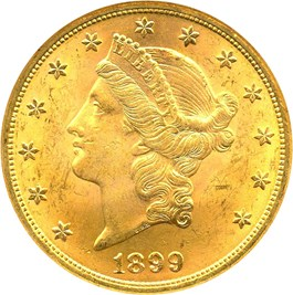 Image of 1899 $20 NGC MS63 - No Reserve!