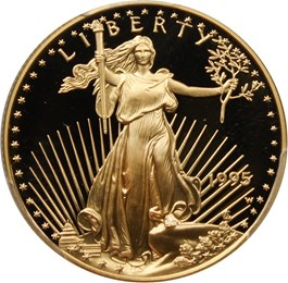 Image of 1995-W Gold Eagle $25 PCGS Proof 70 DCAM
