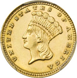 Image of 1881 G$1 PCGS MS63