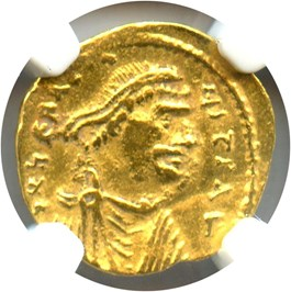 Image of Byzantine Empire: AD 610-641 AV Heraclius & Tremissis NGC VF (Gold)
