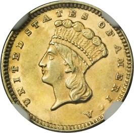 Image of 1874 G$1 NGC MS62