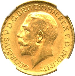 Image of Great Britain: 1914 Sovereign NGC MS62 (KM#820) 0.2354 oz Gold