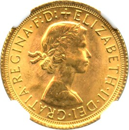 Image of Great Britain: 1966 Sovereign NGC MS65 (KM#908) 0.2354 oz Gold