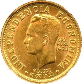 Image of Bolivia: 1952 14G 20 Bolivianos NGC AU58 (KM-X12) 0.4502oz gold
