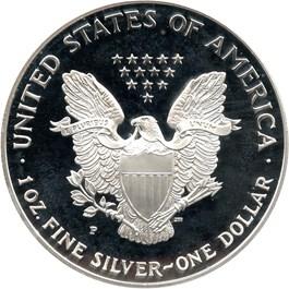 Image of 1999-P Silver Eagle $1 PCGS Proof 70 DCAM (Mercanti Signature)