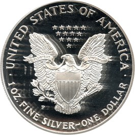 Image of 1997-P Silver Eagle $1 PCGS Proof 70 DCAM (Mercanti Signature)