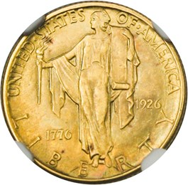 Image of 1926 Sesquicentennial $2 1/2 NGC MS66