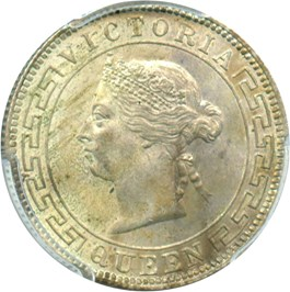 Image of Ceylon: 1900 50c PCGS Secure MS63 (KM-96)