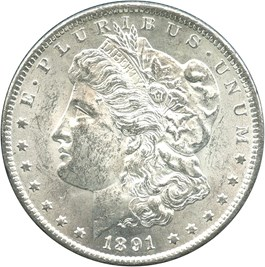 Image of 1891-CC $1 NGC/GSA MS62 (VAM-3, Spitting Eagle)