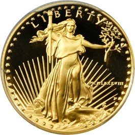 Image of 1988-P Gold Eagle $10 PCGS Proof 69 DCAM