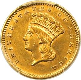 Image of 1859-S G$1 PCGS AU58