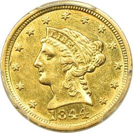 Image of 1844-C $2 1/2 PCGS AU55