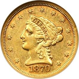 Image of 1870-S $2 1/2 NGC AU53