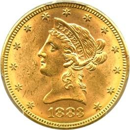 Image of 1883 $10 PCGS MS63