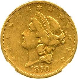 Image of 1870-S $20 NGC VF30