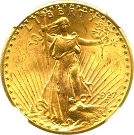 Image of 1927 $20 NGC MS64+