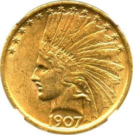 Image of 1907 $10 NGC MS61 (No Motto)