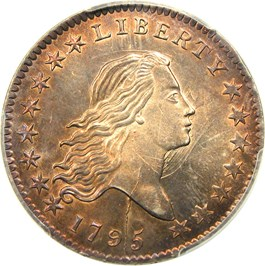 Image of 1795 50c PCGS/CAC MS64 (O-121a, Y over Star, Pogue Collection)