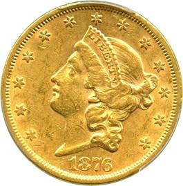 Image of 1876-S $20 PCGS AU55