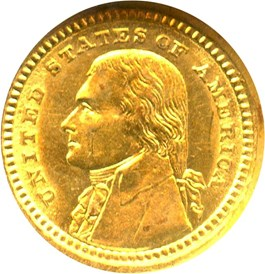 Image of 1903 Jefferson G$1 NGC MS62