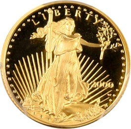 Image of 2000-W Gold Eagle $5 PCGS Proof 69 DCAM