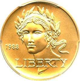 Image of 1988-W Olympic $5 PCGS MS70