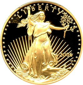 Image of 2006-W Gold Eagle $50 PCGS Proof 69 DCAM (20th Anniversary)