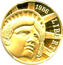Image of 1986-W Statue of Liberty $5 PCGS Proof 70 DCAM