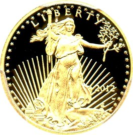 Image of 2012-W Gold Eagle $5 PCGS Proof 70 DCAM