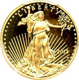 Image of 2013-W Gold Eagle $5 PCGS Proof 69 DCAM