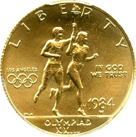 Image of 1984-W Olympic $10 PCGS MS69