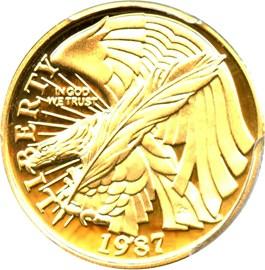 Image of 1987-W Constitution $5 PCGS Proof 69 DCAM